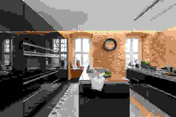 Planungsgruppe Korb GmbH Architekten & Ingenieure Cucina moderna Nero