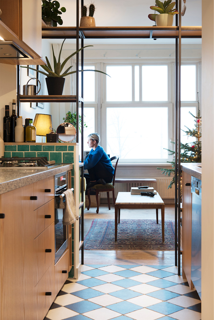 Amsteldijk Eclectische keukens van Kevin Veenhuizen Architects Eclectisch Hout Hout