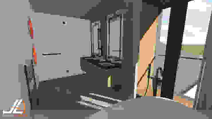 JLA - Jarrod Len Architecture Nowoczesna łazienka
