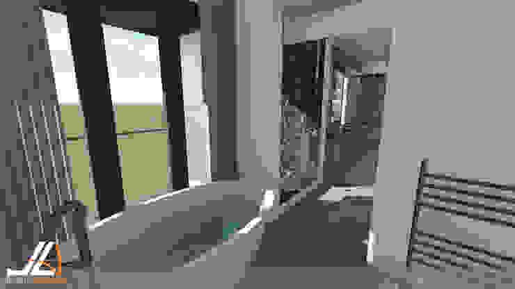 JLA - Jarrod Len Architecture モダンスタイルの お風呂