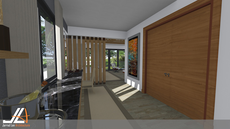 JLA - Jarrod Len Architecture Vestidores de estilo moderno