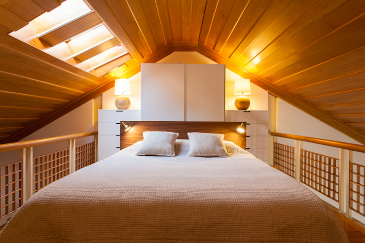 Mezzanine_Quarto por Traço Magenta - Design de Interiores Moderno