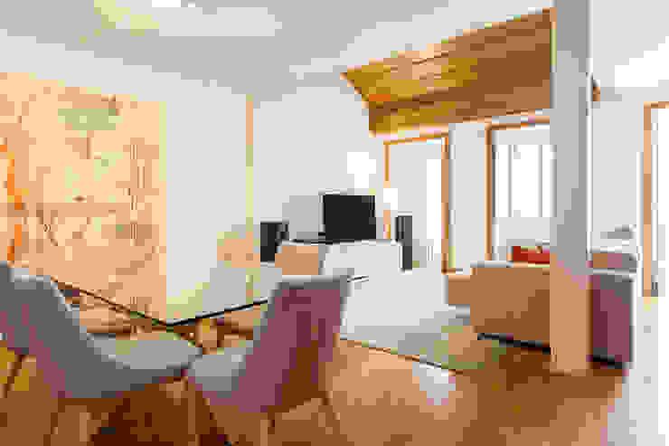 Sala Comum_Zona de refeição por Traço Magenta - Design de Interiores Moderno