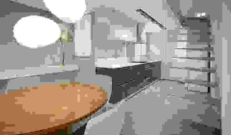 Minimalist kitchen by RAFE Arquitetura e Design Minimalist Ceramic