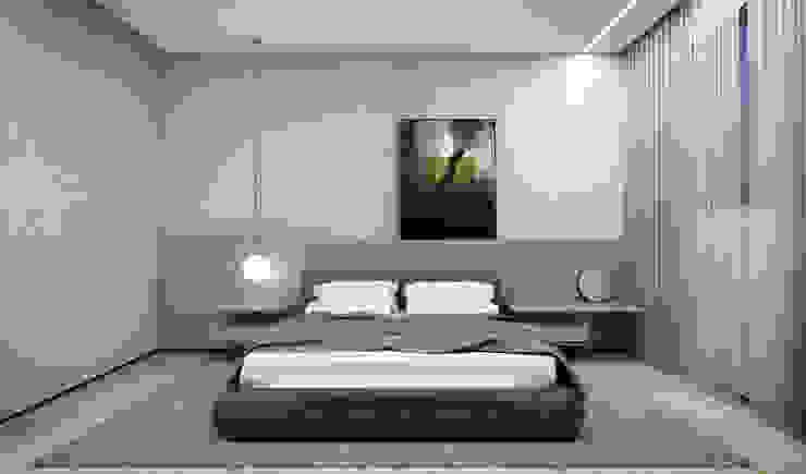 RAFE Arquitetura e Design Minimalist bedroom Concrete Grey
