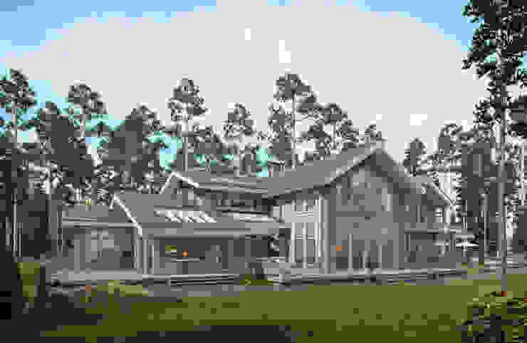 Дом в посёлке Новое Репино, 600 кв.м. :  в . Автор – FullHouseDesign
