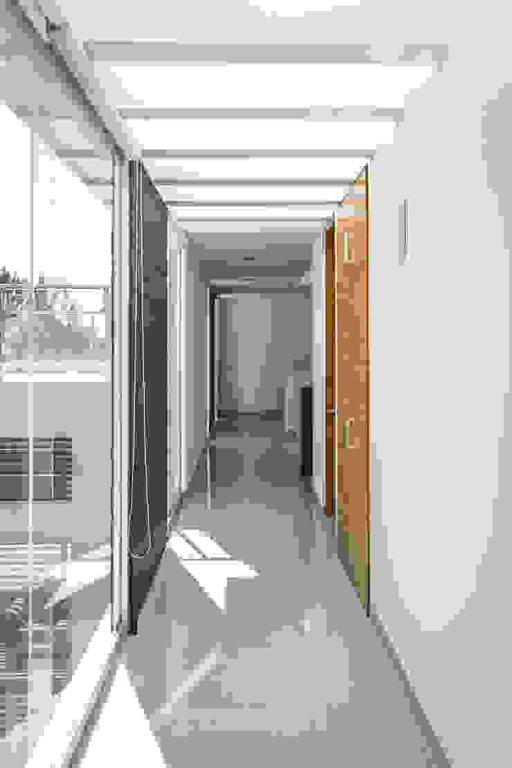 SICOMOROS UNO CERO SIETE Pasillos, vestíbulos y escaleras modernos de GENETICA ARQ STUDIO Moderno