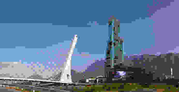 Centro Civico San Pedro Centros comerciales de estilo moderno de ALBUERNE ARQUITECTOS Moderno Vidrio