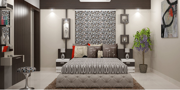 Incredible Designs for You ! Modern style bedroom by Monnaie Architects & Interiors Modern