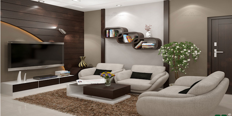 Incredible Designs for You ! Modern living room by Monnaie Architects & Interiors Modern