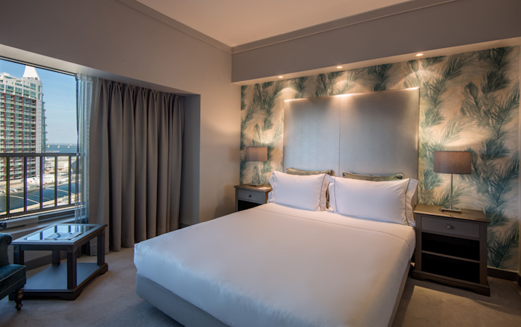 Hotel Tivoli Oriente MARIA ILHARCO DE MOURA ARQUITETURA DE INTERIORES E DECORAÇÃO Quartos modernos