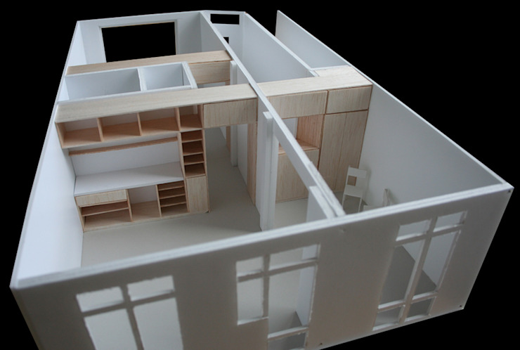 TINY APARTMENT WITH A GARDEN VIEW van Kevin Veenhuizen Architects