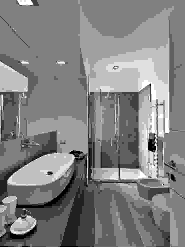 Modern Grey Bathroom Gracious Luxury Interiors Modern Bathroom Grey