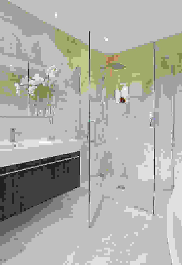 Light Airy Shower Room Gracious Luxury Interiors Modern Bathroom Beige