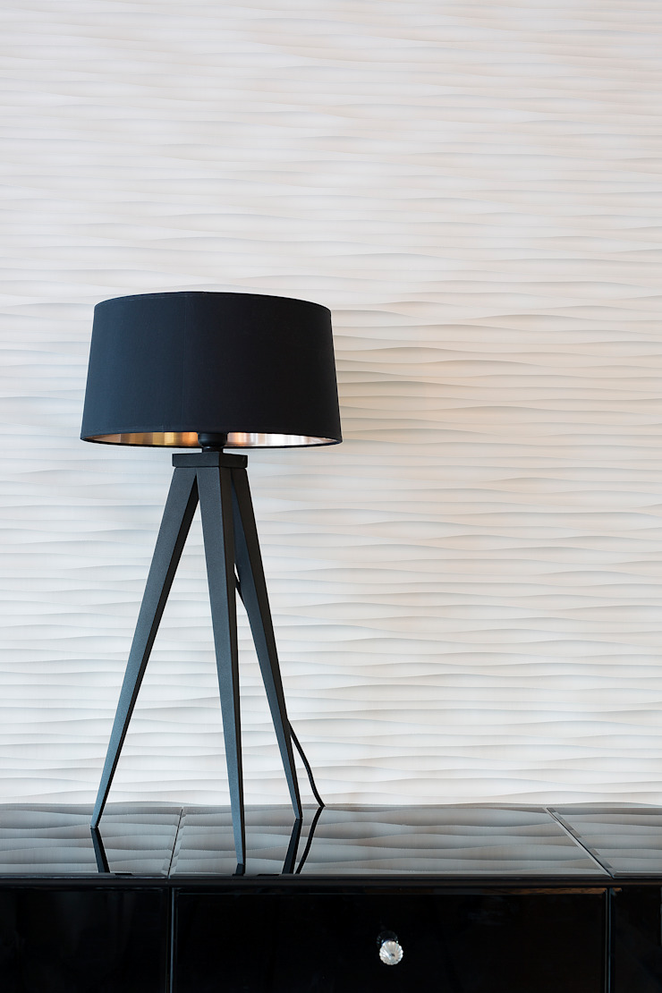 Lamp & Texture Wall Gracious Luxury Interiors Office buildings