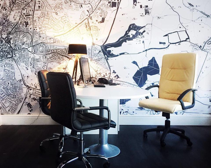 Map Wallpaper Gracious Luxury Interiors Office buildings
