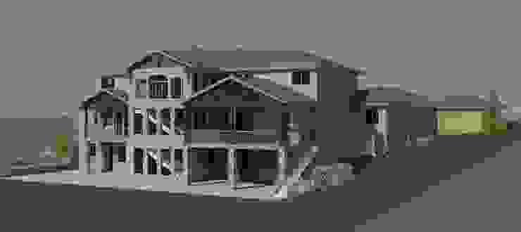 三層木造建築, 依地勢而建並加上客戶所要的露天陽台 根據 monaco design 鄉村風