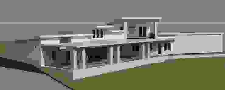 3D rendering 住家後方景 根據 monaco design