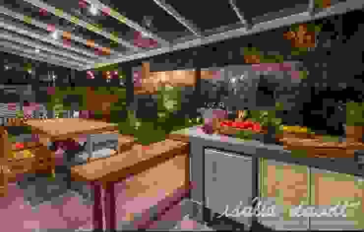 Country style balcony, porch & terrace by IDALIA DAUDT Arquitetura e Design de Interiores Country