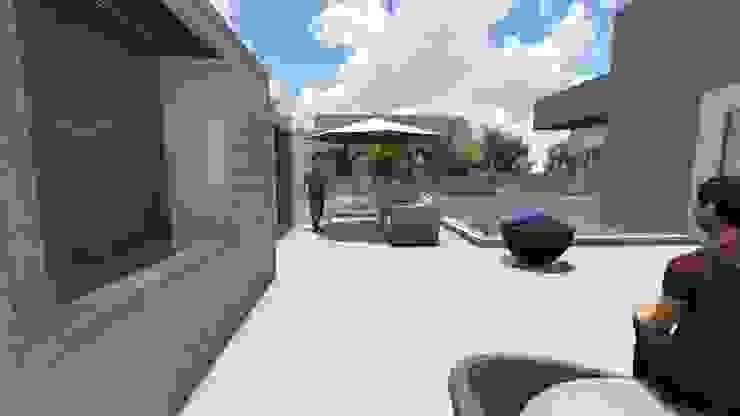 Ivonete Teixeira Arquitetura Modern balcony, veranda & terrace