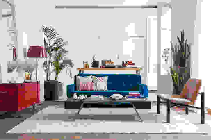 Tropical Chic Salones de estilo tropical de Rodolfo Madera Design Studio Tropical