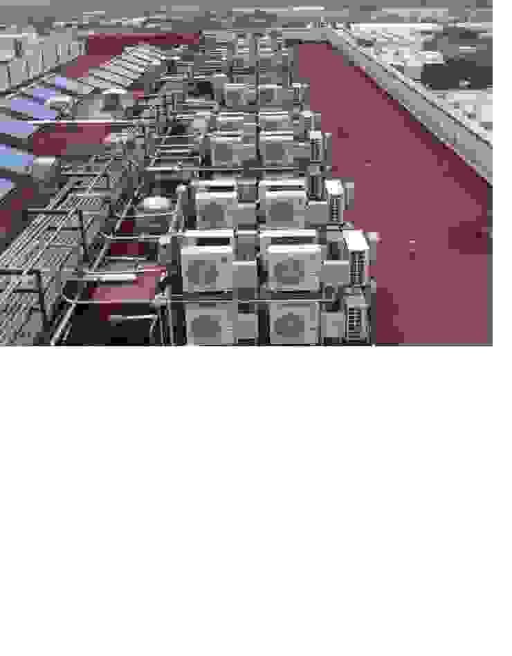 Condensadoras instaladas en azotea Casas clásicas de ABA Confort S.A de C.V Clásico