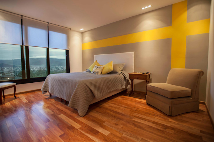 Modern style bedroom by Horizontal Arquitectos Modern Wood Wood effect