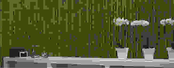 Piedra Bambú Decorativo Verde de homify Moderno Concreto reforzado