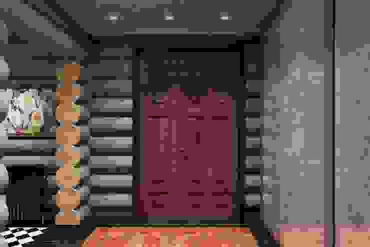 Pasillos, vestíbulos y escaleras industriales de Дизайн студия Алёны Чекалиной Industrial