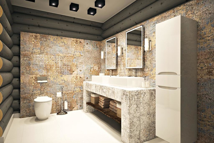 Дизайн студия Алёны Чекалиной Industrial style bathroom