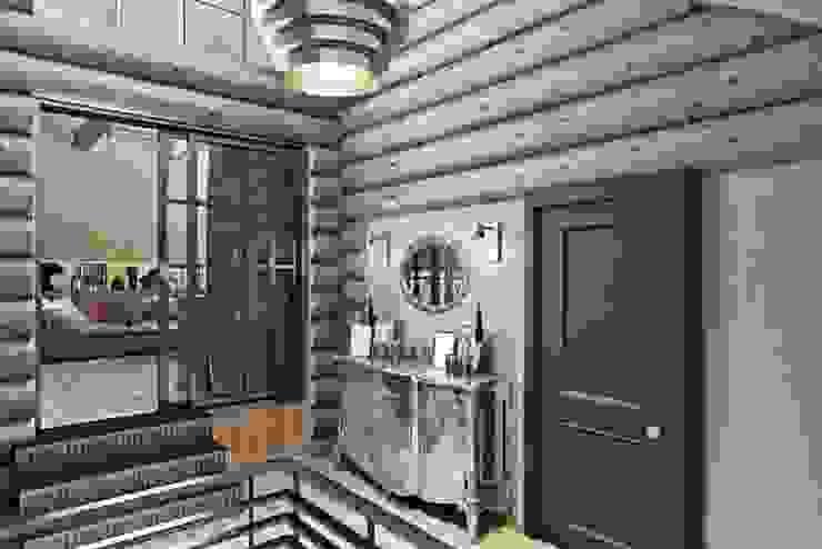 industrial style corridor, hallway & stairs by Дизайн студия Алёны Чекалиной Industrial
