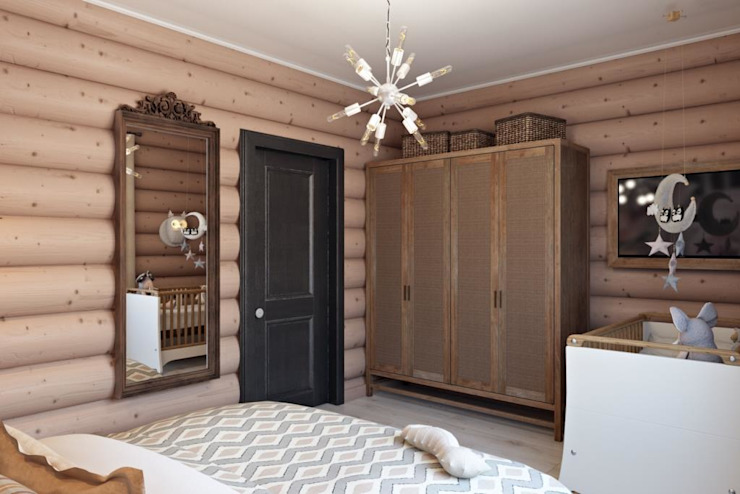 Dormitorios industriales de Дизайн студия Алёны Чекалиной Industrial