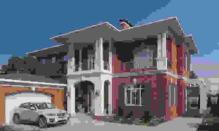 Резиденция в г. Новочеркасск homify Дома в классическом стиле Кирпичи Красный