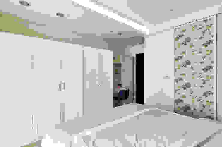 濃郁藍調的個性主臥室 根據 青瓷設計工程有限公司 日式風、東方風