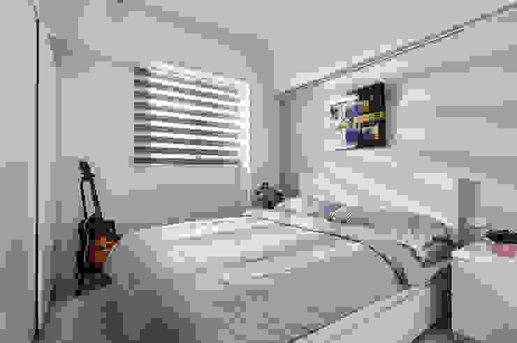 水藍色彩減緩小房間壓迫感 根據 青瓷設計工程有限公司 日式風、東方風