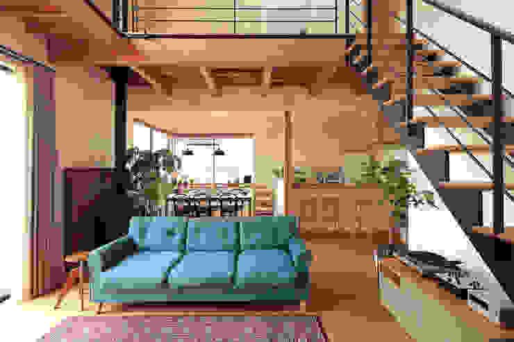 FUN! HOUSE! 北欧デザインの リビング の こぢこぢ一級建築士事務所 北欧