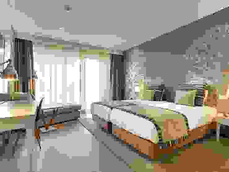 Dormitorios modernos: Ideas, imágenes y decoración de MARIA ILHARCO DE MOURA ARQUITETURA DE INTERIORES E DECORAÇÃO Moderno