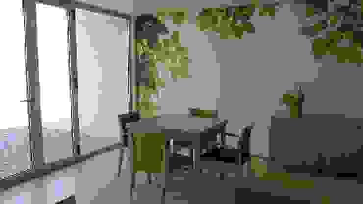 Unidade de Cuidados Continuados de Coruche Salas de jantar modernas por MARIA ILHARCO DE MOURA ARQUITETURA DE INTERIORES E DECORAÇÃO Moderno