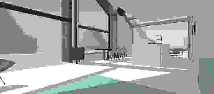 houtskeletbouwwoning: modern  door WESTERBREEDTE architecten, Modern