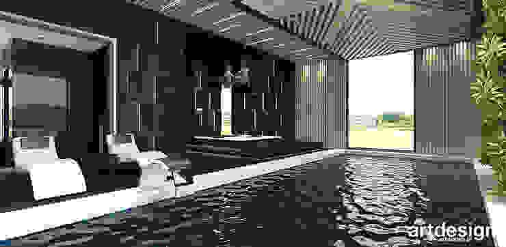 nowoczesny dom z basenem ARTDESIGN architektura wnętrz Nowoczesny basen