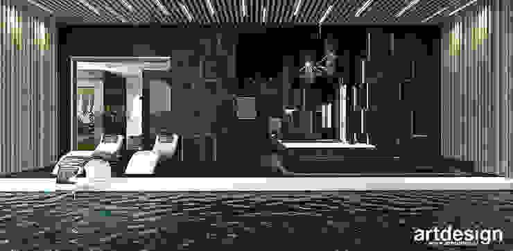 strefa przy basenie - domowe spa ARTDESIGN architektura wnętrz Nowoczesny basen