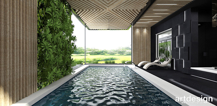 projekt basenu ARTDESIGN architektura wnętrz Nowoczesny basen