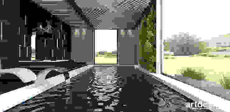nowoczesna aranżacja basenu ARTDESIGN architektura wnętrz Nowoczesny basen