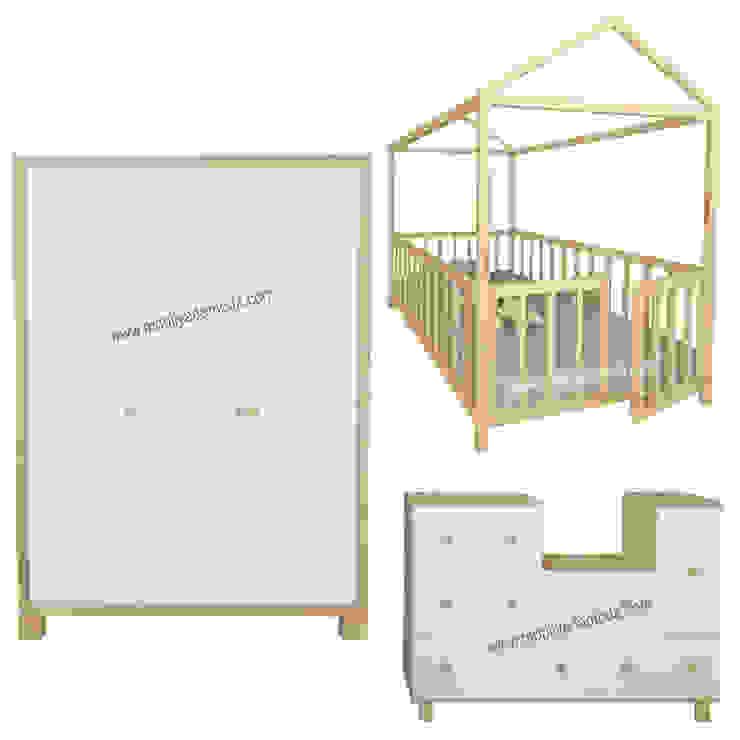 Özel Tasarım Montessori Beşikli Bebek Çocuk Odası Modern Çocuk Odası MOBİLYADA MODA Modern Ahşap Ahşap rengi