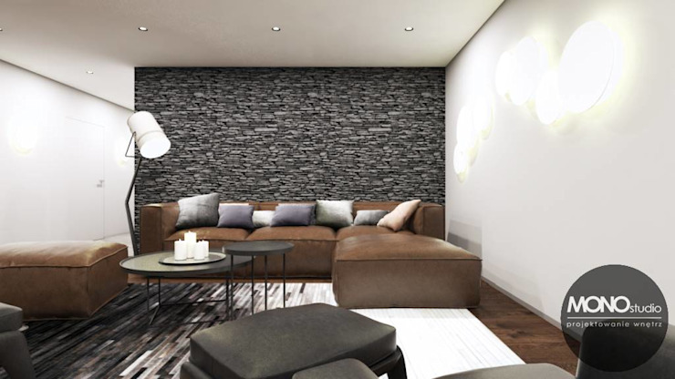 Modern media room by MONOstudio Modern