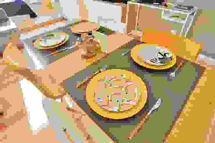 Студия дизайна Дмитрия Артемьева 'Prosto Design' Salas de jantar escandinavas Amarelo