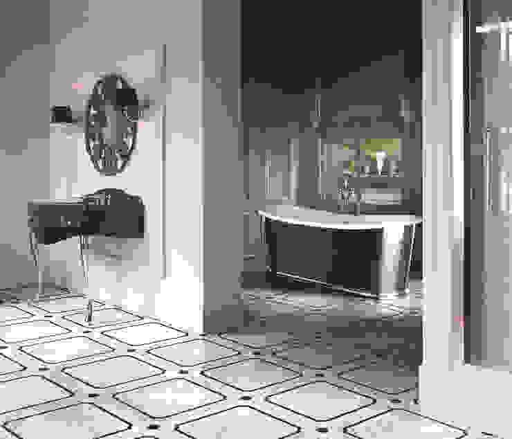Miami Console | Black Amelie Mirror | Prestige Marble Flooring | Regal Freestanding Bath Classic style bathroom by Devon&Devon UK Classic