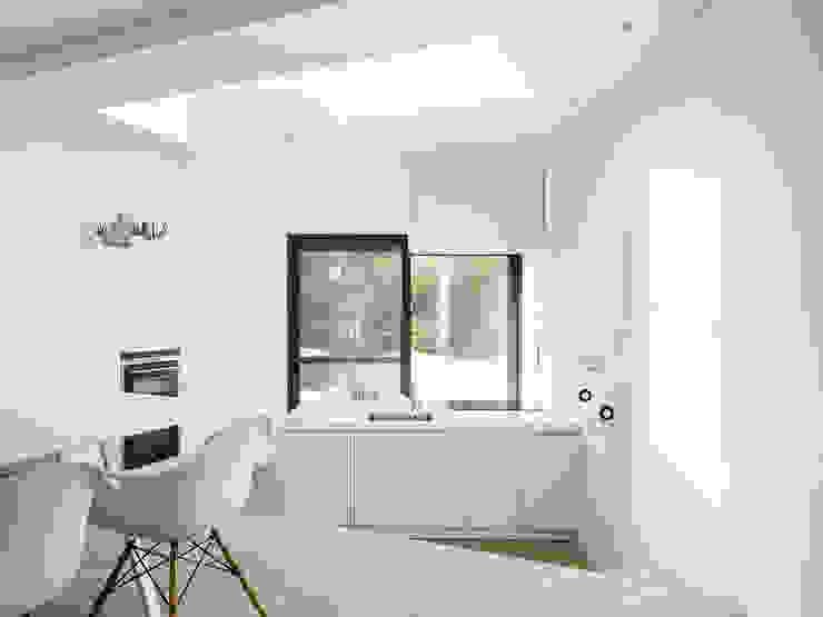 une paysage à habiter Minimalistische keukens van White Door Architects Minimalistisch