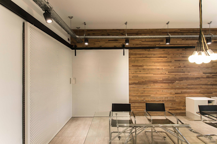 Industrial style study/office by TC Estudio Industrial
