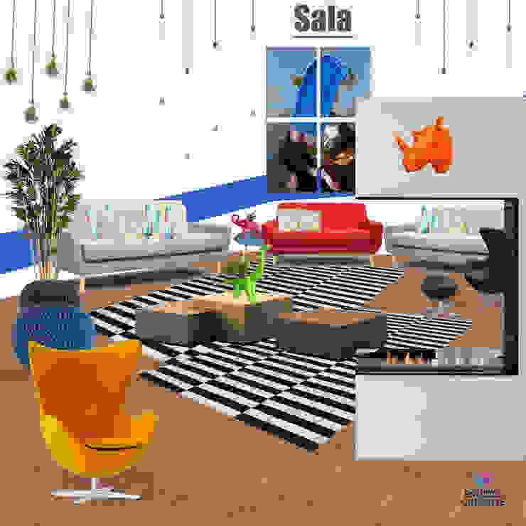 Casa FDE Salones modernos de Estudio Chipotle Moderno Madera Acabado en madera